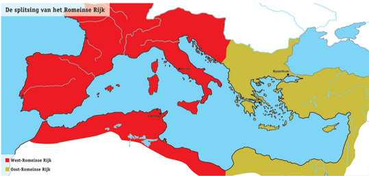 Ongebruikt Theodosius - LES 18: BLoei en verval van het romeinse rijk LA-55